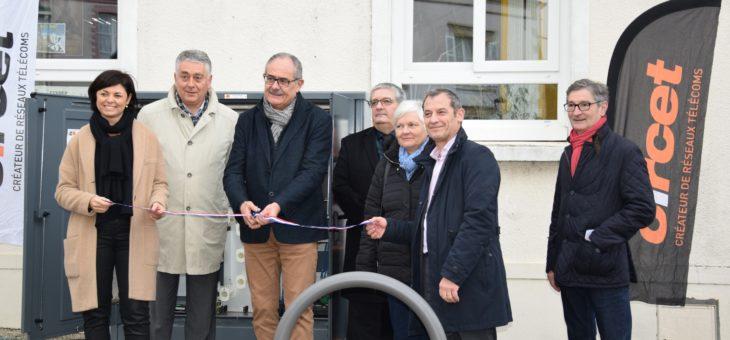 Inauguration des premiers équipements de la fibre optique