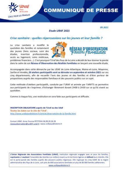 thumbnail of CP étude Réseau d'Observation des réalités familiales 2021(2)