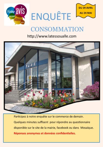 thumbnail of Affiche Enquête de consommation