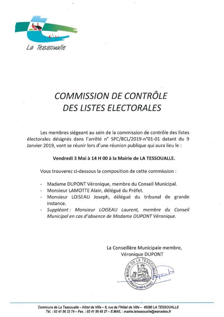 thumbnail of Commission de contrôle des listes électorales