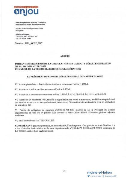 thumbnail of Arrêté circulation 2021_ACNP_0117 Route de Moulins