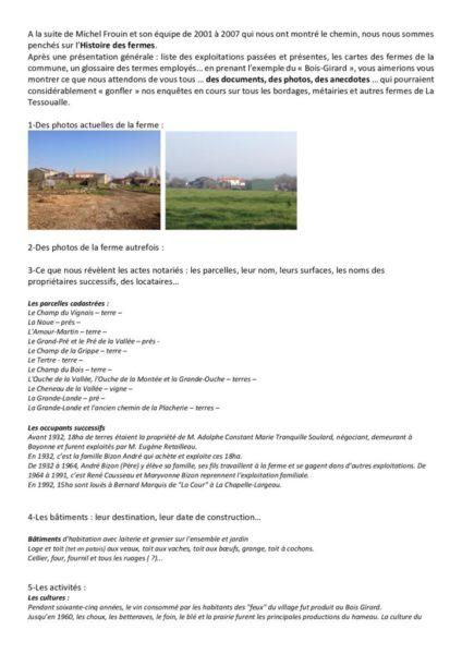thumbnail of L'Histoire de nos fermes – Hameau du Bois-Girard